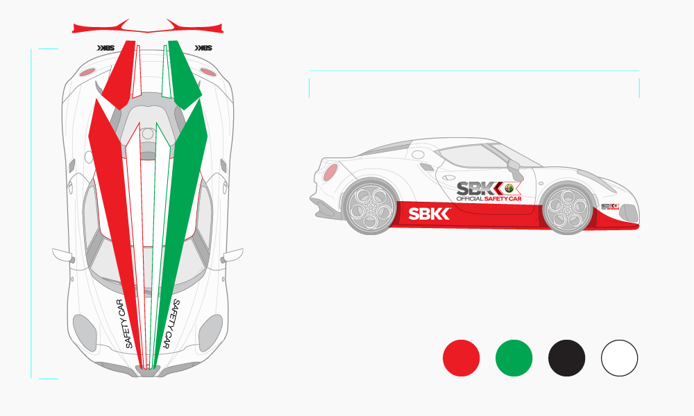Alfa Romeo 4C Livery Design - Safety Car - Superbikes