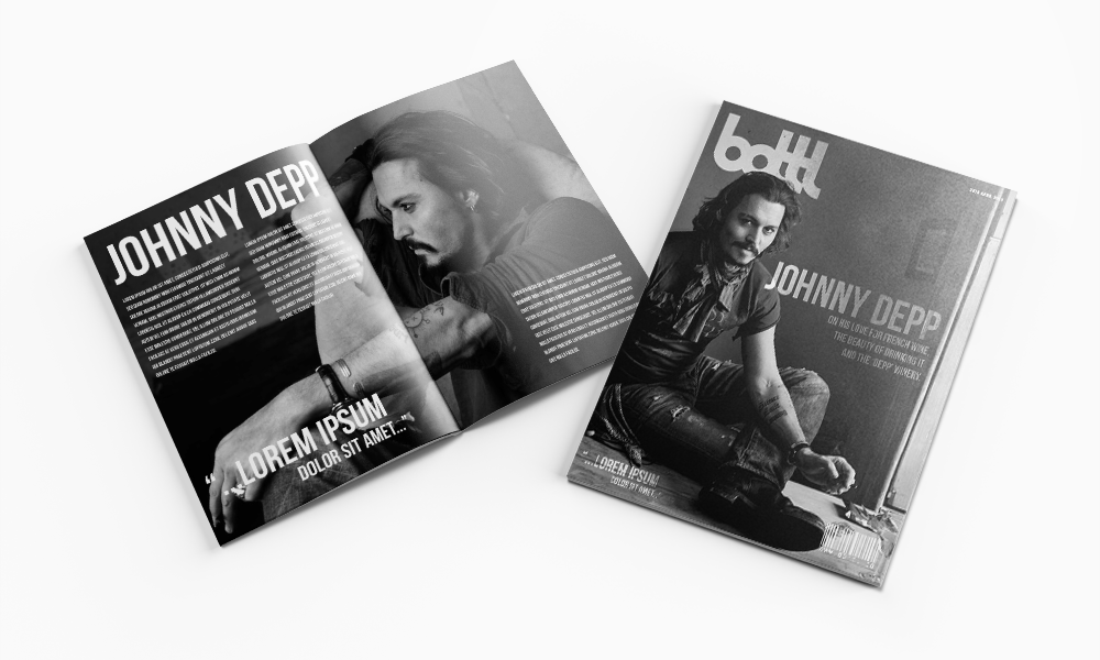 bottl - Branding and Corporate Identity - Magazine Design